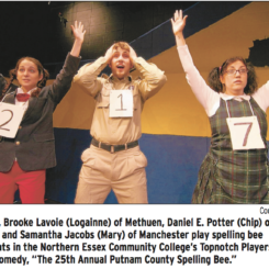 'Bee'-ing adolescents: Actors return to awkward stages of puberty in show at NECC